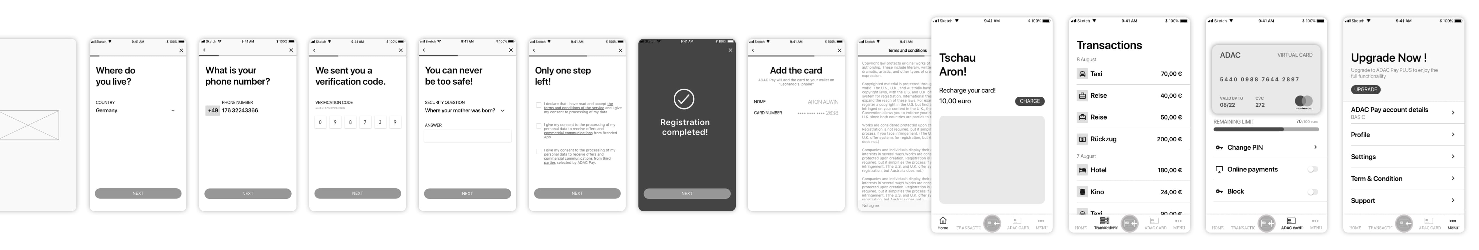 ADAC wireframes-collection